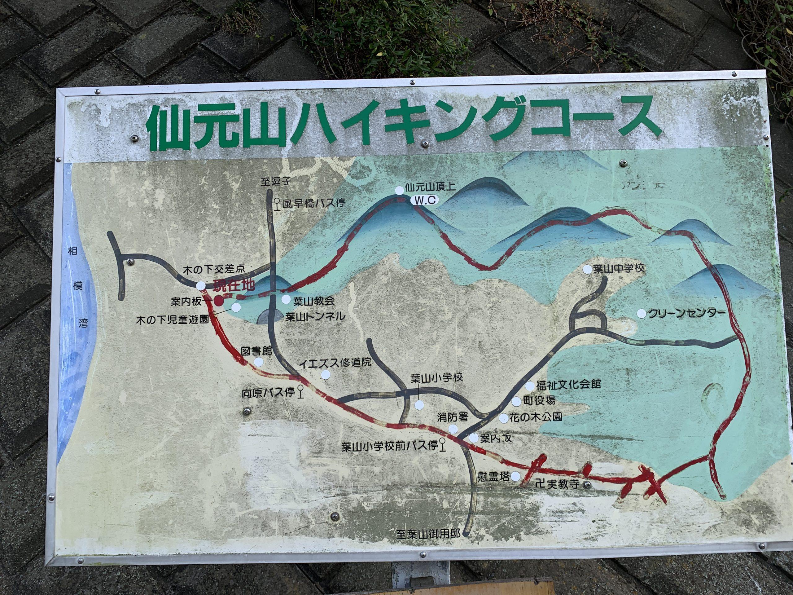 仙元山登山ルートを細かく解説!